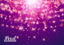 Z St walentynki ` s dniem Jaskrawa barwiąca element strona olśniewający serca z Girlanda projekta elementy Abstrakt ilustracja wektor