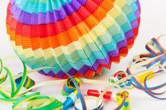 Z streamers kolorowy lampion Obraz Royalty Free