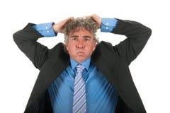 Z stresem dorosły biznesowy mężczyzna obraz royalty free