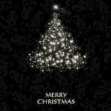 Z symbolicznym drzewem elegancka Kartka bożonarodzeniowa Zdjęcie Royalty Free