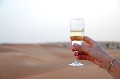 Z szampanem świętowanie grzanka Fotografia Stock