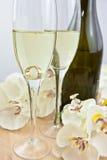 Z szampanem dwa szkła Obraz Stock