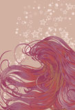 Z szczegółowym włosy kobiety twarz Zdjęcia Stock