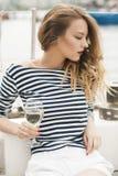 Z szkłem wino Zdjęcie Stock