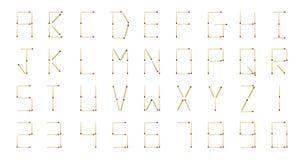 A-Z und Zahl Stockbilder