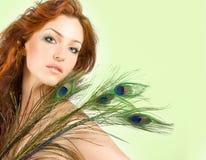 z włosami czerwona kobieta Obraz Royalty Free