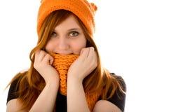 z włosami dziewczyny czerwień Zdjęcie Stock