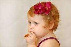 z włosami dziewczyny czerwień Obraz Royalty Free