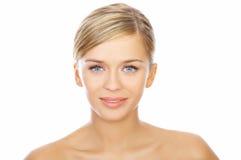 z włosami piękno blondyny Zdjęcia Royalty Free