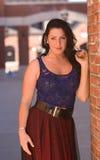 z włosami piękno zmrok Zdjęcie Royalty Free