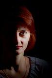 z włosami portreta czerwieni kobieta obraz stock