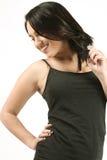 z włosami sprawności fizycznej ciemna dziewczyna obrazy royalty free