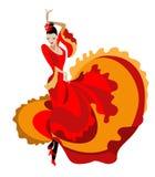 Z włosami flamenco tancerz Zdjęcie Royalty Free