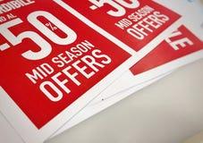 50% z W połowie sezon sprzedaży Fotografia Royalty Free