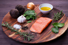 Z warzywami rybi fillet obraz royalty free