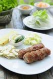 Z warzywami wietnamski jedzenie; Naemnueng Zdjęcia Stock