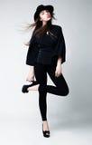 z wdziękiem target3530_0_ stylowego wiktoriański piękno dziewczyna Zdjęcie Stock