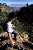 z widokiem na canyon wycieczkowicz obrazy royalty free
