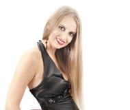 Z wieczór makijażem piękna kobieta Obraz Stock