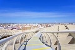 Z wierzchu Astronautycznego Metropol Parasol, szczecinki de Sevilla, dalej fotografia royalty free