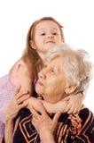 Z wnuczką starsza kobieta zdjęcia royalty free