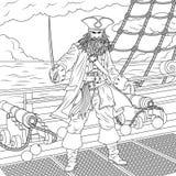 Zły kapitan piratesn Obrazy Stock