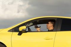 zły kierowca Zdjęcie Royalty Free