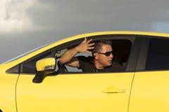 zły kierowca Fotografia Royalty Free