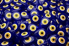 Zły oko lub turecczyzna amulet sztaplowanie Zdjęcie Stock