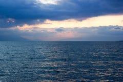Zły wheather przy morzem Fotografia Stock