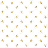 Z złotymi gwiazdami bezszwowy wzór również zwrócić corel ilustracji wektora Obraz Stock