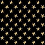 Z złotymi gwiazdami bezszwowy wzór również zwrócić corel ilustracji wektora Fotografia Royalty Free