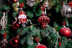 Z zabawkami nowego roku drzewo Zdjęcia Royalty Free