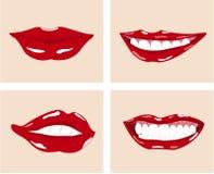 Z zdrowymi biały zębami szczęśliwy żeński uśmiech Zdjęcia Stock
