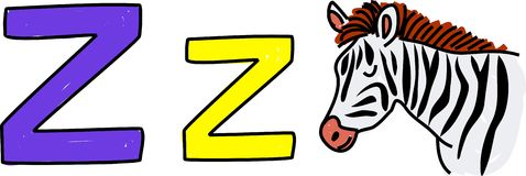 Z is for zebra Royalty Free Stock Images