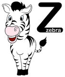 Z for zebra. A illustration of letter Z with zebra character graphic Stock Image