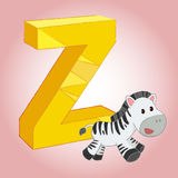 Z Zebra Alphabet icon great for any use. Vector EPS10. Stock Image