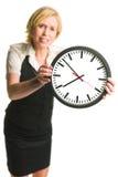 Z zegarem biurowa dama obraz royalty free