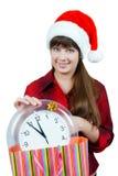 Z zegarem dziewczyna Zdjęcie Stock
