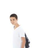 Z zestaw torbą młody nastoletni chłopak obraz stock