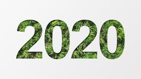 2020 z zieloną drzewną teksturą ilustracji