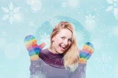 Z zima dziewczyną sztuka kolaż zdjęcie stock