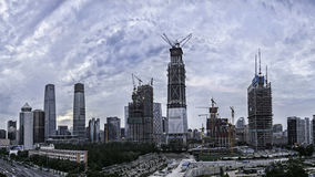Z15 Tower. The design by TFP Farrells, BIAD,ARUP and MVA will be the tallest building in Beijing. The new Z15 Tower, located in the east of Beijing at the heart Stock Photos