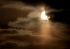 zaćmienia słoneczny częściowy obrazy royalty free