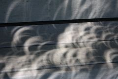 Zaćmienie cienie zdjęcie royalty free