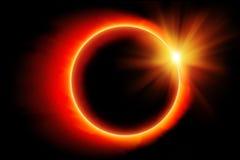 Zaćmienie słońce ilustracja wektor