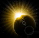 zaćmienie słoneczny ilustracja wektor
