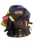 załadowany plecak fotografia stock