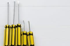 Załatwiać narzędzia ustawia dla domowego naprawiania lub budowa na bielu zaleca się Obraz Stock
