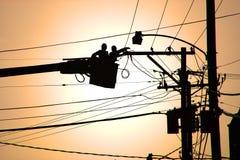 załoga elektrycznymi Zdjęcie Stock